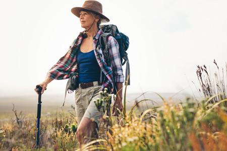 Senior woman pursuing her dream for adventure
