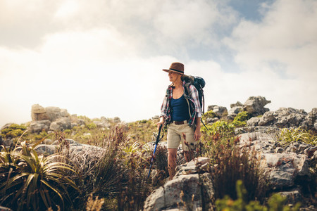 Woman on a hiking adventure