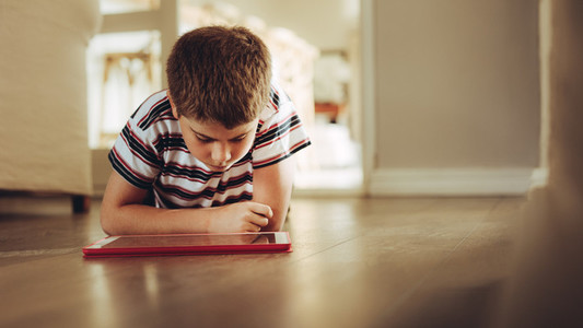 Kid learning with gadgets