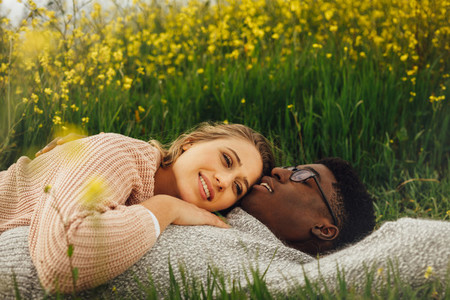 Interracial in romantic moment