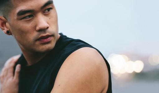 Asian fitness model