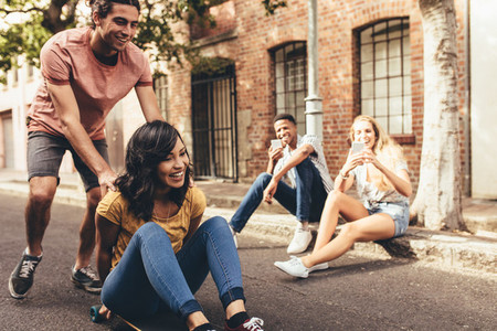 Group of friends enjoying outdoors