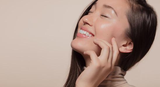 Korean female with beautiful skin
