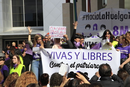 International Womens Day  in Rivas Vaciamadrid Spain