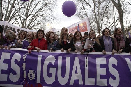 International womens day celebration in Madrid
