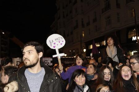 Celebration of international womens day in Madrid