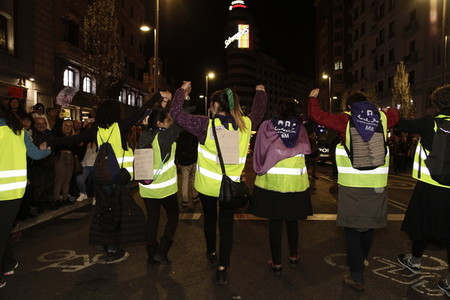 International womens day in Madrid  Spain