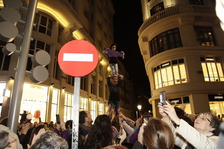 Celebration of international womens day in Madrid