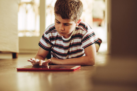 Kid using technology for learning