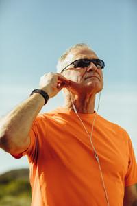 Portrait of a senior athletic man