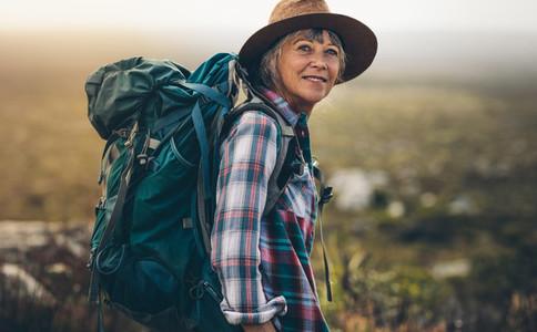 Portrait of a woman hiker