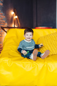 portrait of a cheerful little boy