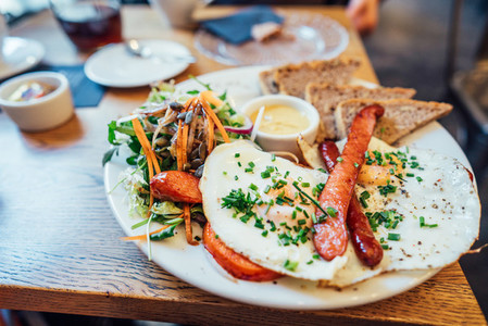 Breakfast on the plate