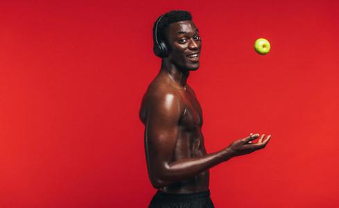 Confident muscular man