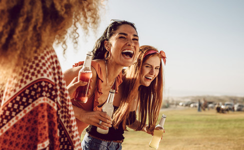Group of female friends having fun