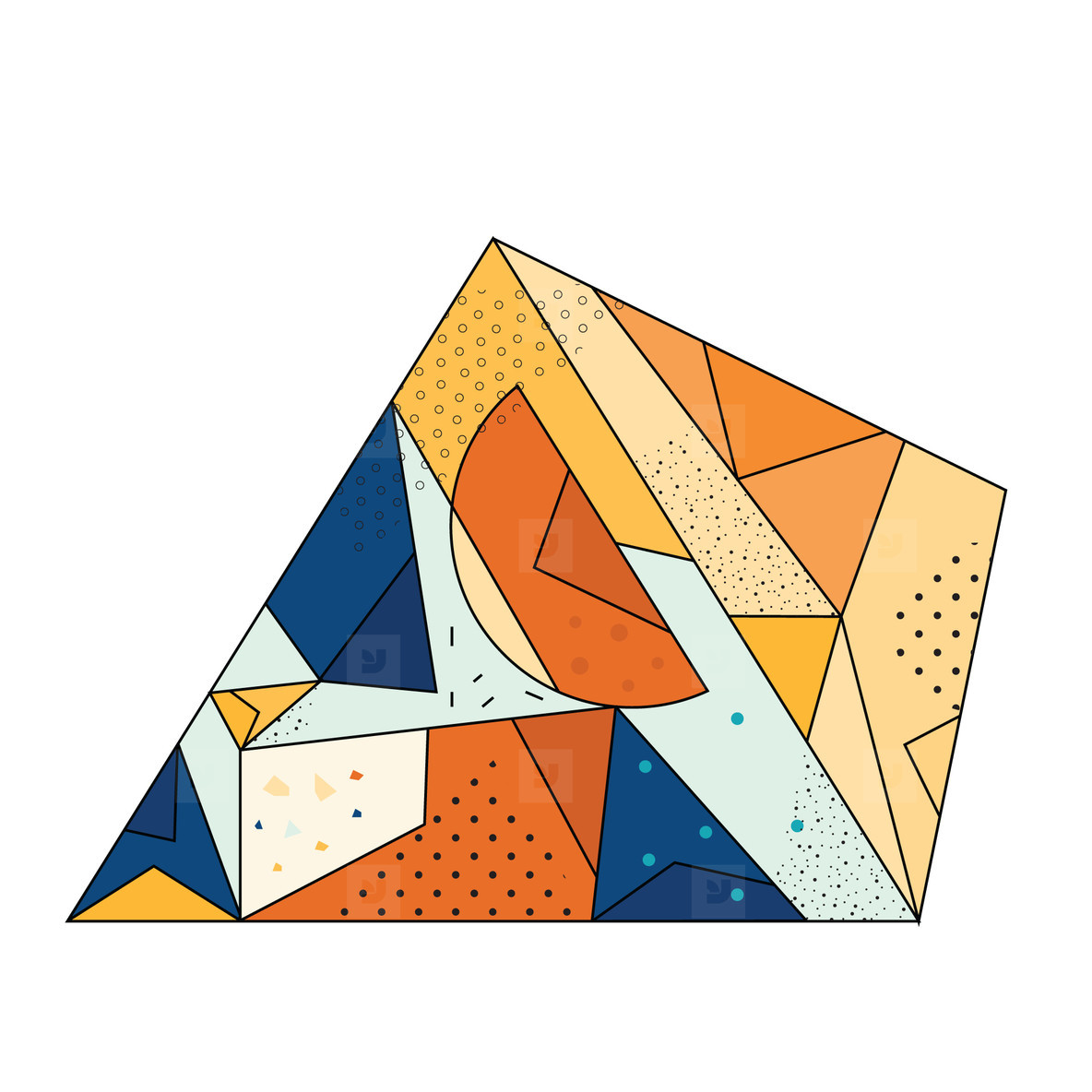 Colored Geometric Crystal 01