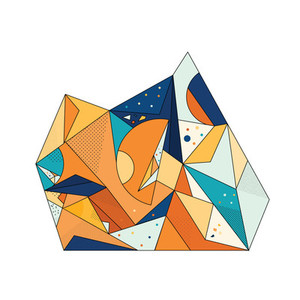 Colored Geometric Crystal 02