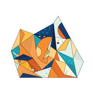 Colored Geometric Crystal 02