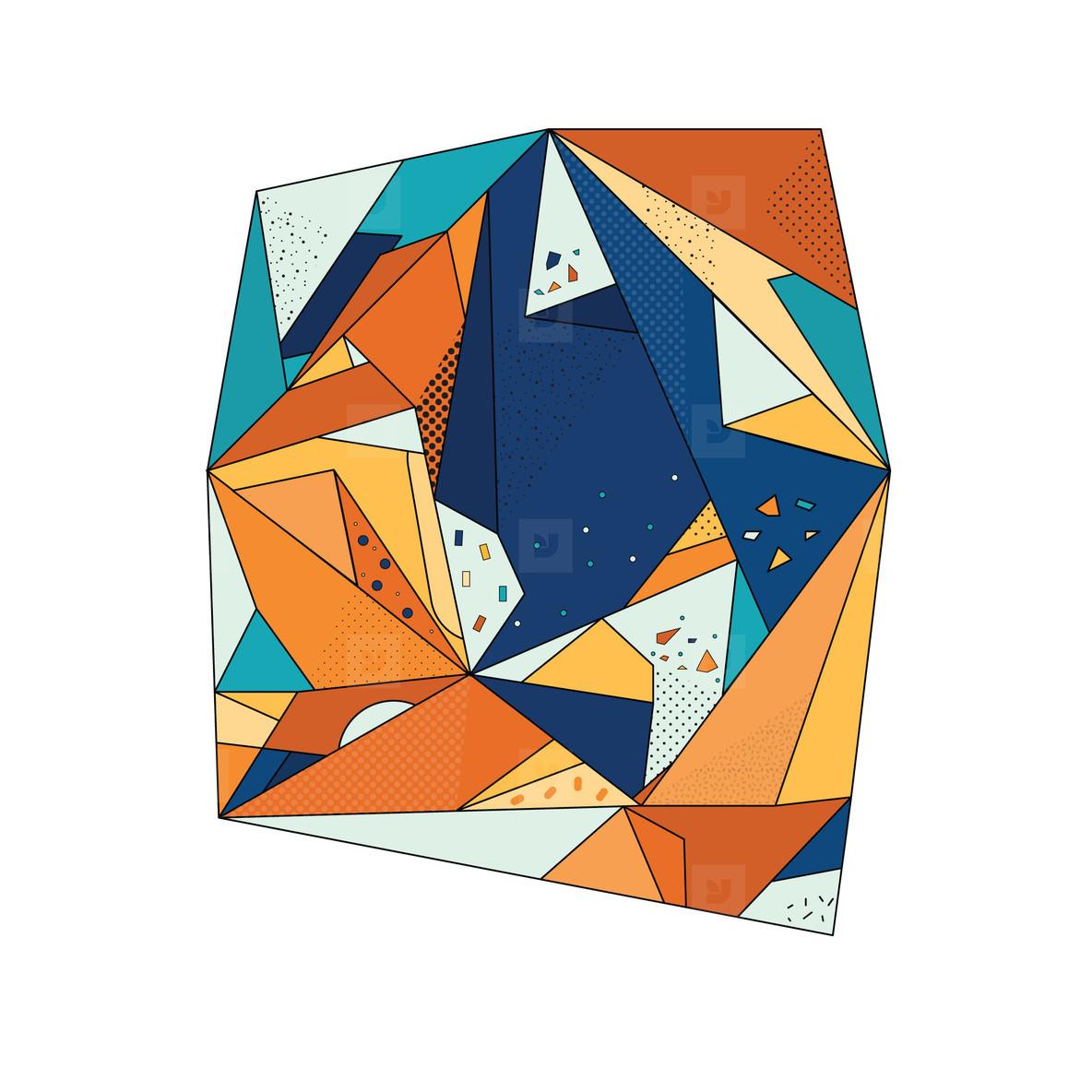 Colored Geometric Crystal 03
