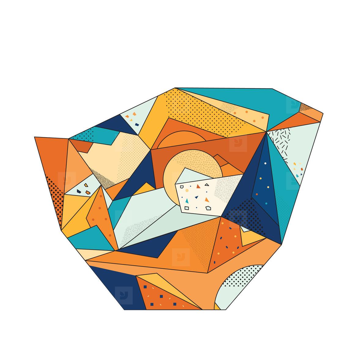 Colored Geometric Crystal 06