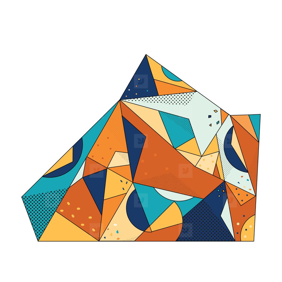 Colored Geometric Crystal 08