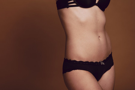 Torso of women in lingerie