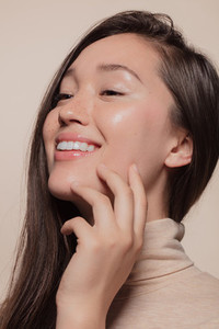 Asian woman with healthy skin