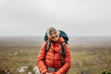 Portrait of a smiling female hiker