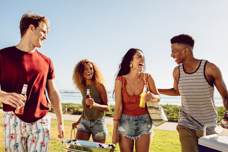 Friends summer beach party