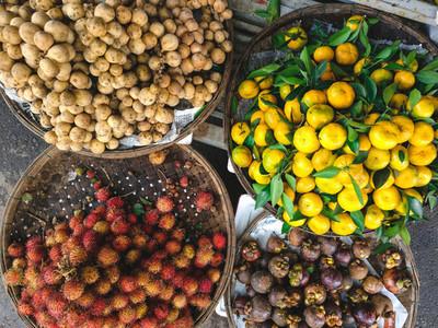 Exotic fruits at Asian market