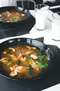 Extremely spicy Thai soup