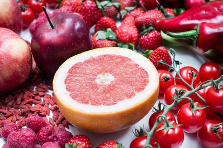 Fresh grapefruit cut