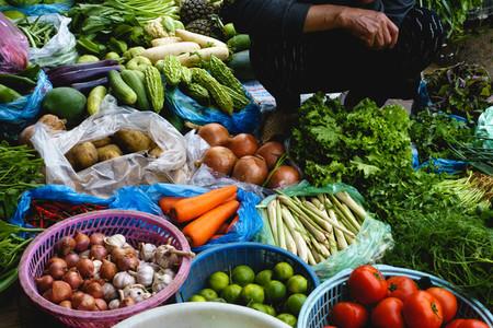 Fresh vegetables at mark