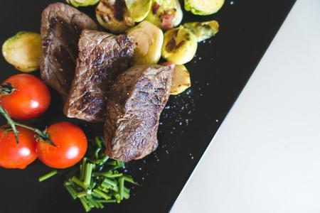Healthy paleo grilled beef steak