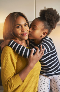 Portrait of beautiful black family