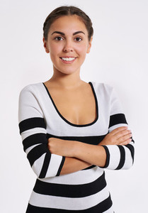 Stylish young woman with a friendly smile