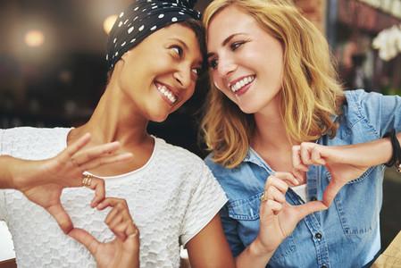 Black and white women  best friends