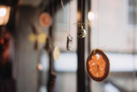 Decorated restaurant window