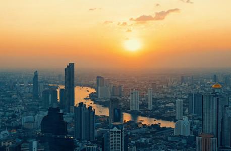 Bangkok Thailand   December 3 2018 Beautiful cityscape