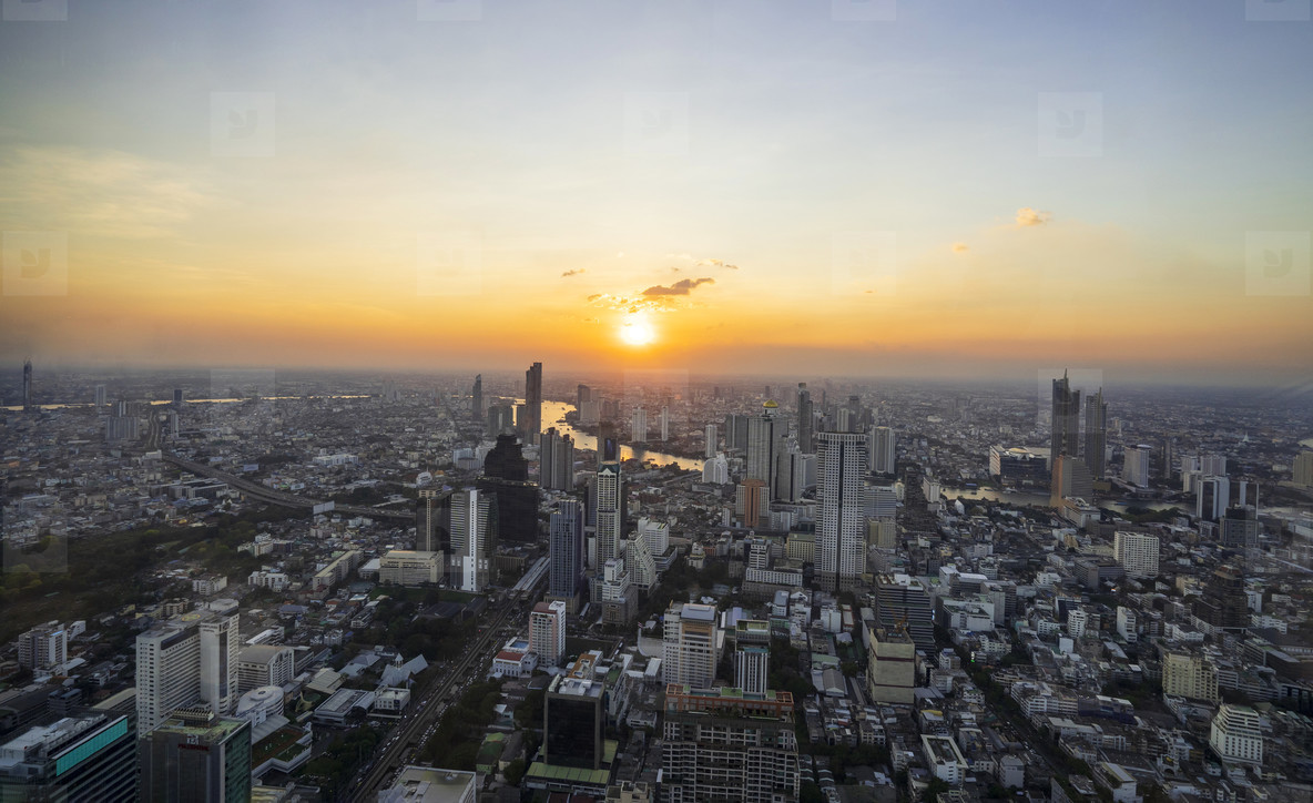 Bangkok  Thailand   December 3  2018 Beautiful cityscape with s
