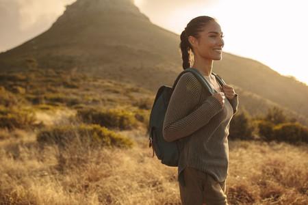 Woman on cross country walk