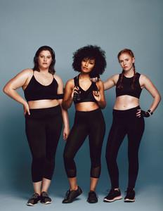 Muilt ethnic women in sportswear
