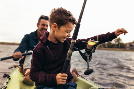 Boys enjoying fishing