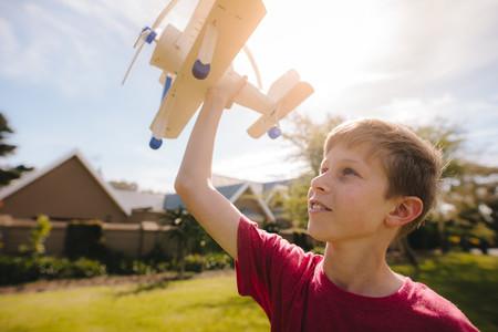 Boy dreams to be a pilot