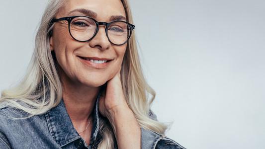 Positive senior woman