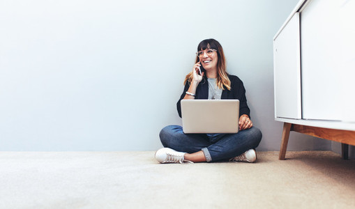 Woman entrepreneur working from home