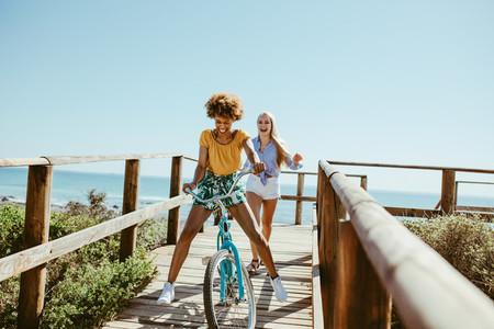 Female friends enjoying on vacation
