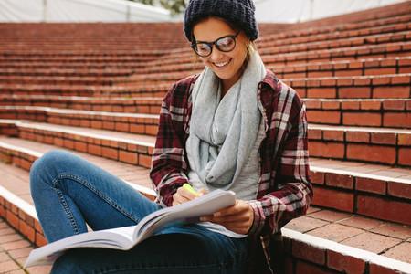 Female college student at campus