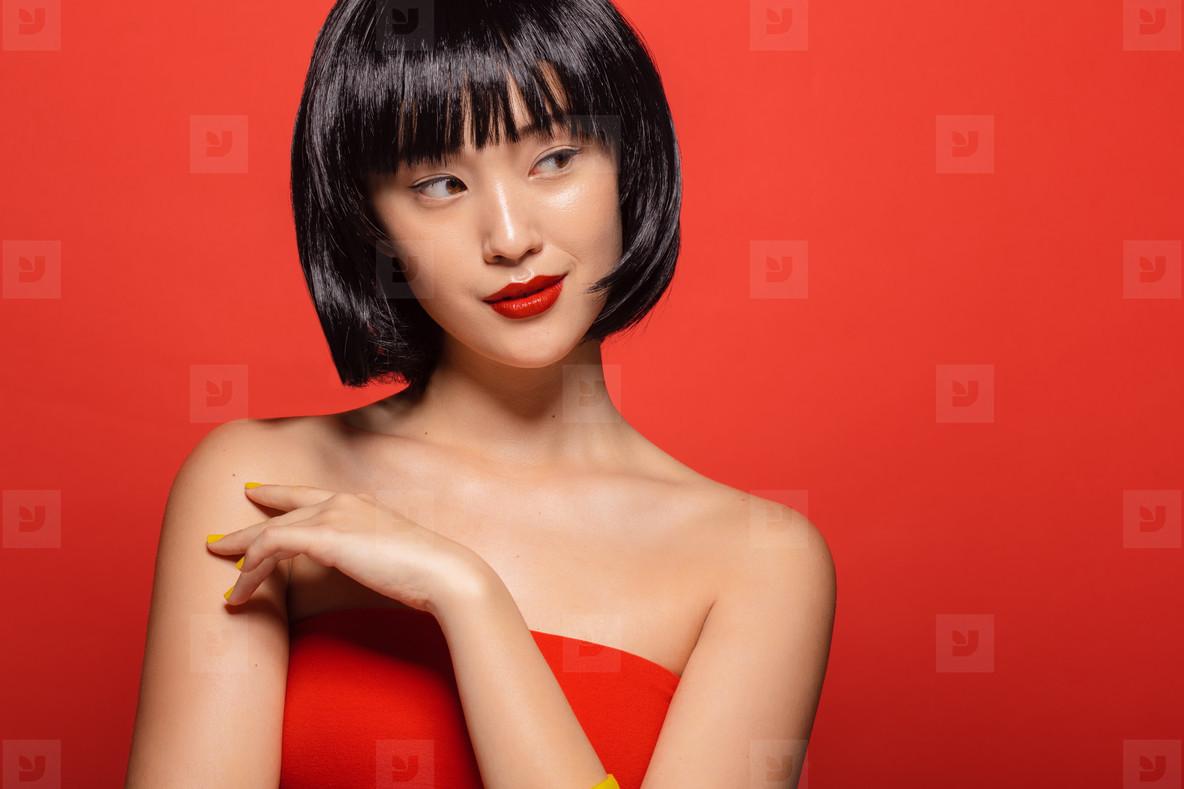 Elegant asian girl