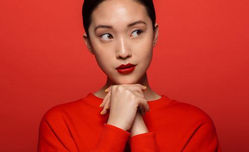 Elegant young asian woman